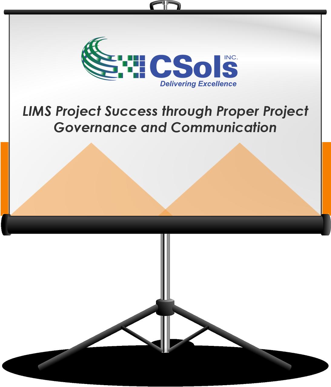 LIMS Project Success through Proper Project Governance