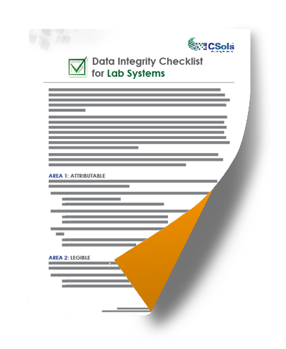 data integrity checklist for lab systems