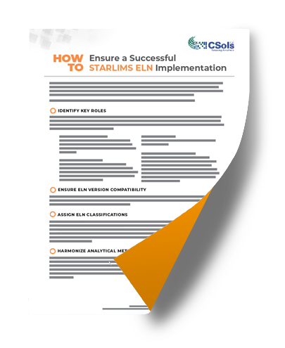 how to ensure a successful STARLIMS ELN implementation