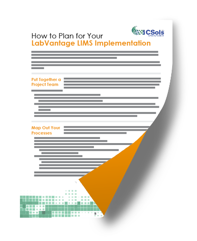 how to plan your labvantage lims implementation