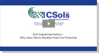 ELN Implementations - Why they fail to Realize their Full Potential