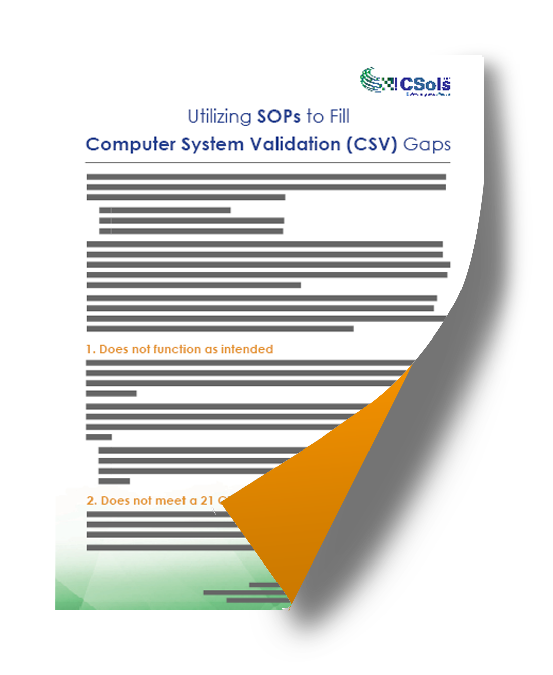 utilizing sops to fill computer system validation gaps