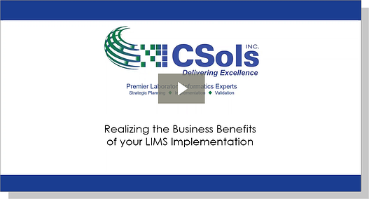 webinar_play_realizing the business benefits of your LIMS implementation